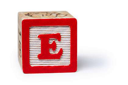 big block letter E 