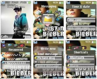 Justin Bieber Theme for Sony Ericsson