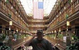 I pledge allegiance to the flag...cleveland shopping mall