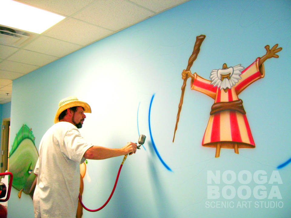 Nooga booga lindsay lane baptist church athens al for Church mural ideas