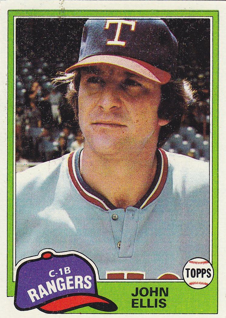 John Ellis Baseball 1981 Topps John Ellis
