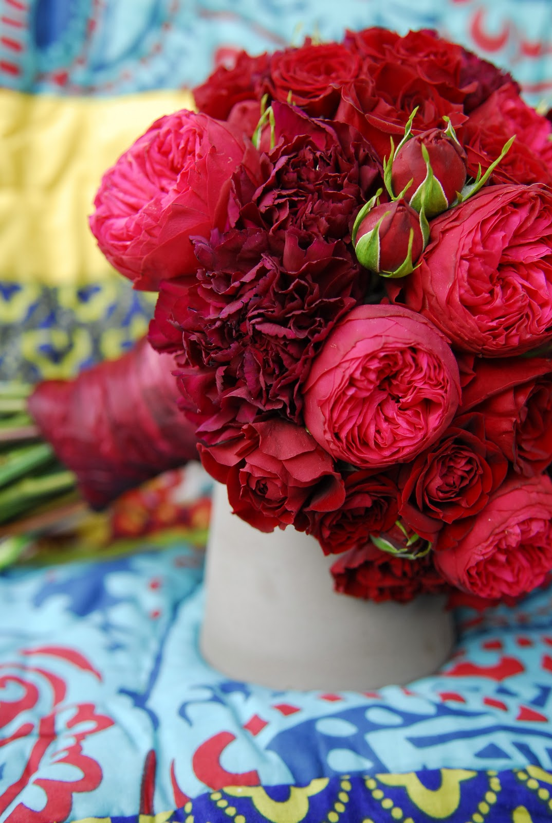 The daily petal the ultimate red bouquet - Red garden rose bouquet ...