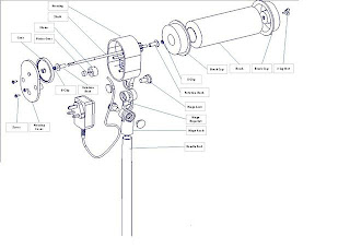 EXPLODED VIEW OF THE CEILING FAN CLEANER