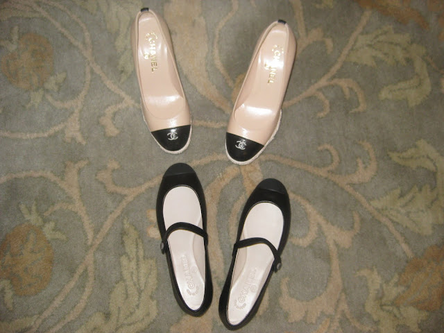 Chanel wedge platform espadrilles shoes