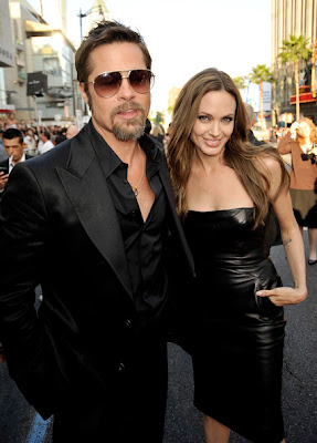 Angelina Jolie black leather dress | ShoppingandInfo.com