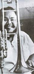 César 'Albóndiga' Monge (César Augusto Anuel Morales) famoso trombón mayor de 'Dimensión Latina'