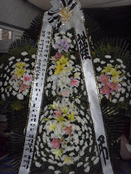Stand flower of condolences