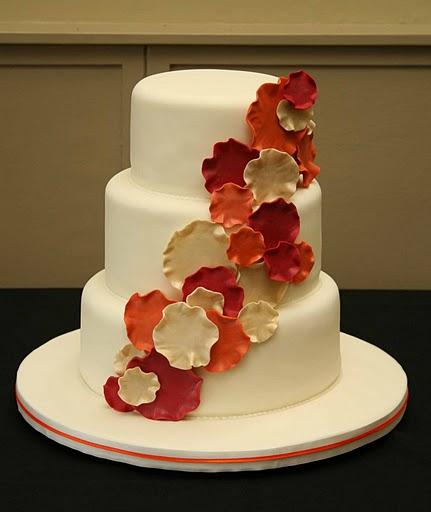 Sweet Bites Cakes Orange And Gold Ruffle Cake