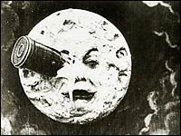 'A Trip to the Moon (Le Voyage dans la lune) by French filmmaker and special-effects pioneer George Melies in 1902 inspired author Brian Selznick. For instance, a scene in which the Man in the Moon is hit in the eye by a giant space bullet is echoed in Selznick's book.' - NPR