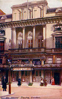 St James's Theatre, Picadilly from early 20th-century postcard, E.F.A. London Theatre Series.