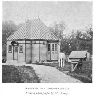 Magnetic Pavilion in the Christie Enclosure from E. Walter Maunder, 'The Royal Observatory, Greenwich: a Glance at its History and Work' (1900).