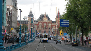 Трамвай в Амстердаме, Нидерланды, Голландия