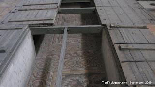 мозаика на полу храма Рождества Христова в Вифлееме