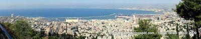 Хайфа, панорамное фото на Средиземное море, Израиль 2009, TripBY.blogspot.com - Вид на Хайфу с горы Кармиель