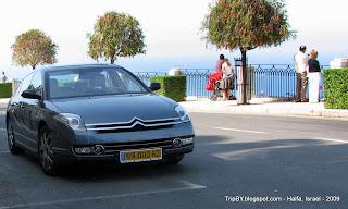 Citroen C6 на побережье Средиземного моря в Хайфе