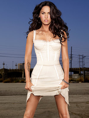 megan fox transformers 2 white dress. megan fox red carpet dress.