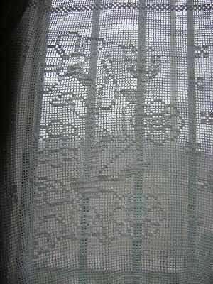 Cortina a crochet con patrones   Entretejida