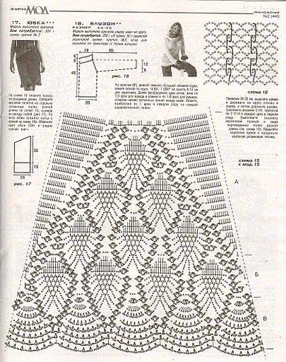 Схемы вязания крючком юбок годе 277