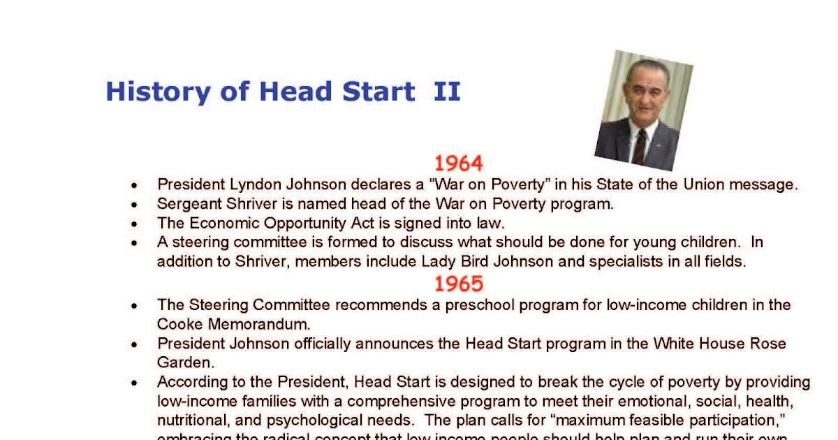 Head Start 1965: History of Head Start II