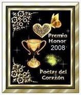 Premio Poetas del Corazon distincion otorgada por Mariana