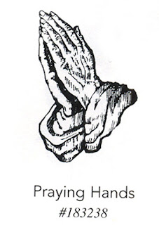 Praying hands coloring page picture