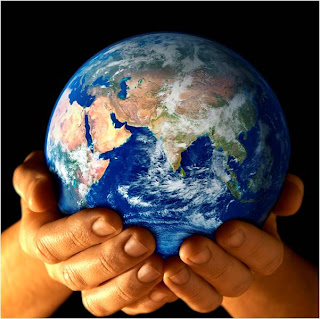 Globe in God's hands and God Jesus caring the earth drawing image free Christian coloring pages and bible clip arts download