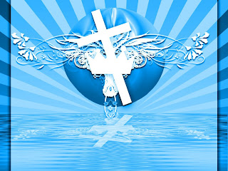 Blue color Beautiful nature religious background photo with Cross design download religious photos of Jesus and Christian images for free