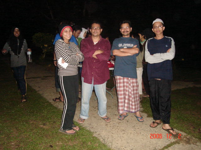Biomass Camp, Taman Negara, with Suriana, Dr Mansur & Dr Nazip (Dec 2006)