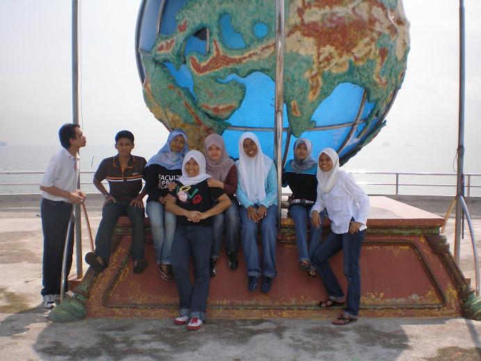 With BCT students at Tg Piai, Johor, Malaysia