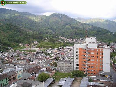 Panorámica Calarcá barrios Cacique y Los Tanques