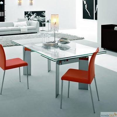 la table en acier et en verre elan est une table design italien rallonges caractrisee par ses pieds au design recherch la rendant lgante et parfaite - Table Design Italienne