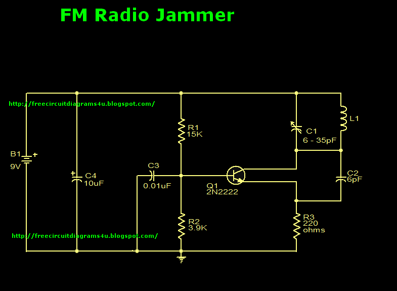 wiring diagram for 3 way switch  fm jammer circuit