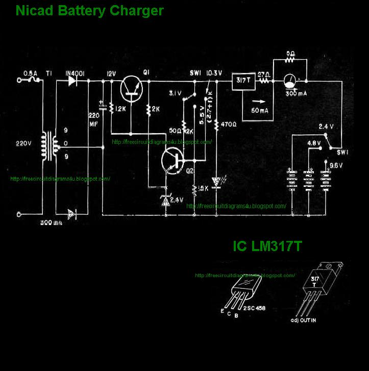 NICAD BATTERY CHARGER CIRCUIT DIAGRAM