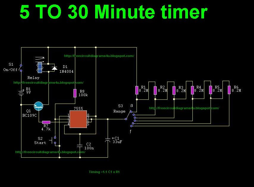 5 To 30 Minute Timer Circuit