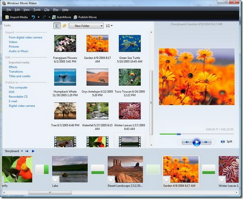 windows movie maker  vista