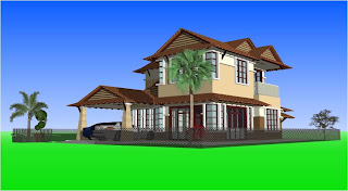 Rumah Banglo Melayu Moden Rekabentuk