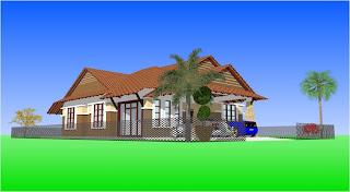 TYPE B : 7 Unit Rumah Banglo Moden 1 Tingkat 4 Bilik