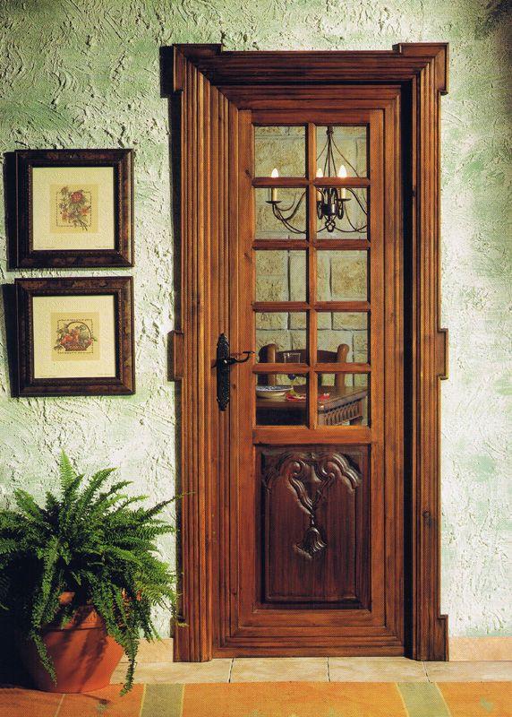 Ebanist puertas paneladas con vidrio repartido for Imagenes de puertas de cristal