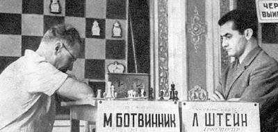 Mikhail Botvinnik Leonid Stein Leningrad Chess 1963