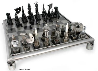Autopart chess set
