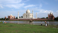 Taj Mahal and Yamuna River