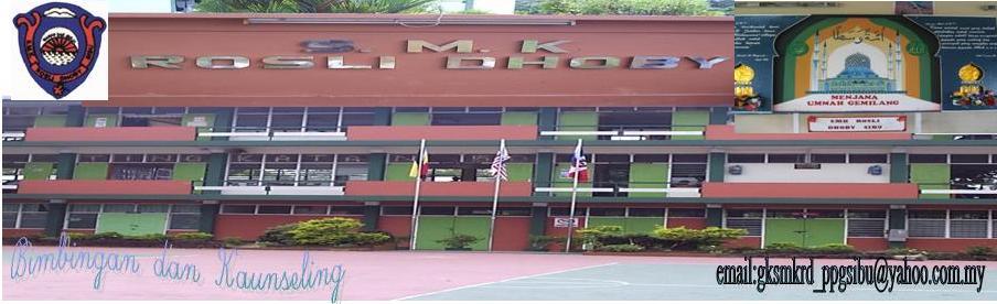 SMK Rosli Dhoby Sibu, Unit Bimbingan dan Kaunseling