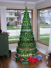 Tree of bottles .... love it