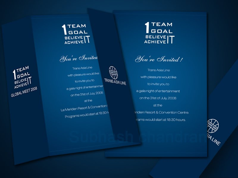 subhash designs Corporate invitation