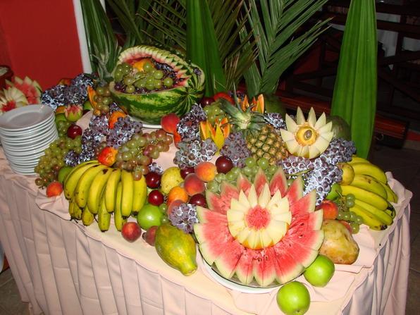 Decorarte Festas Casamento Mesas de Frutas -> Como Decorar Frutas Para Ano Novo