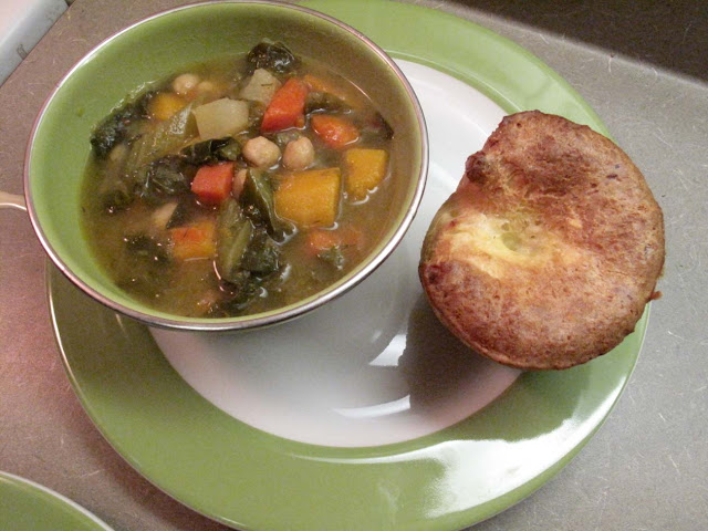 Oh Eat Dirt: Hearty Winter-Vegetable Soup with Popovers