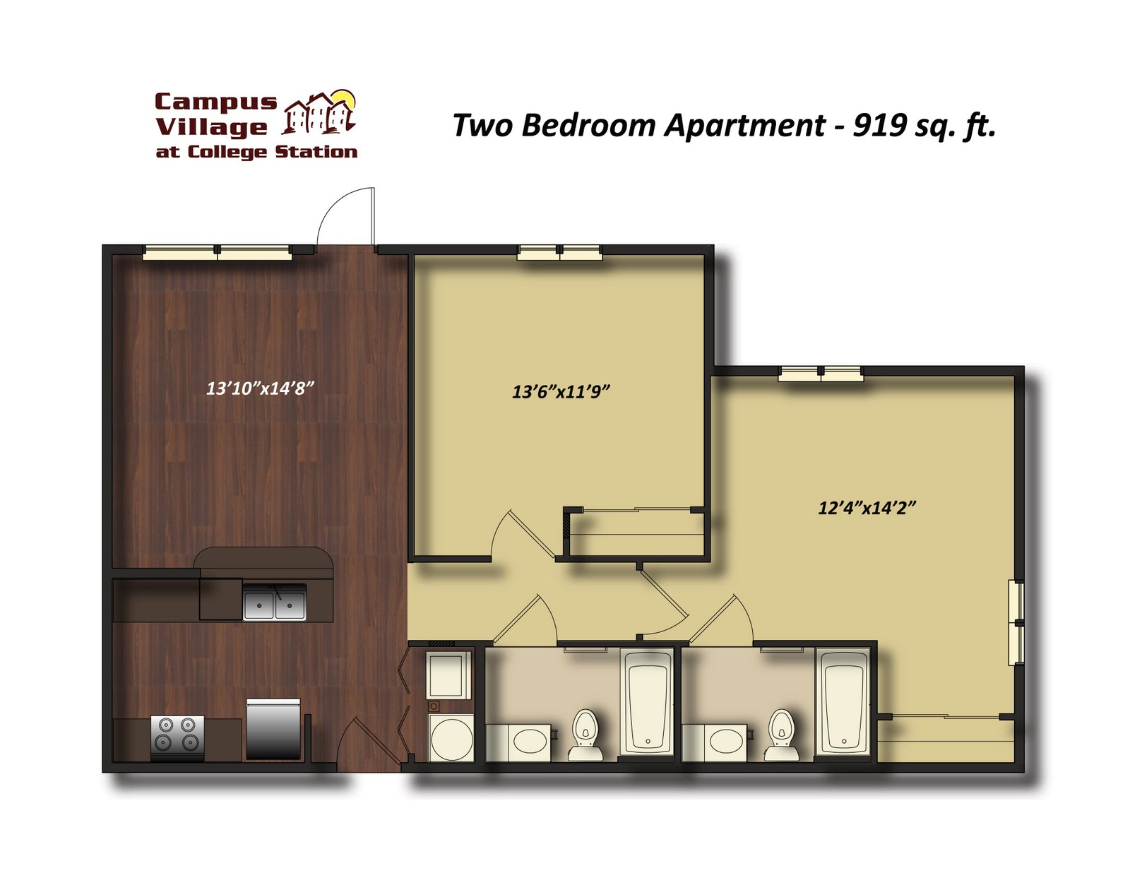 college  bedroom apartment floor plans