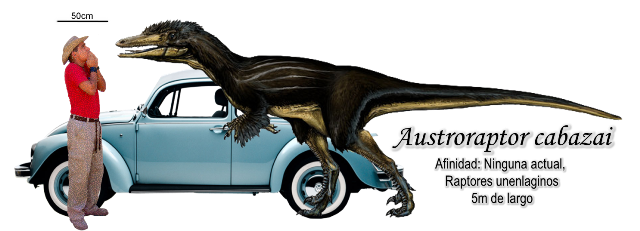 Austroraptor cabazai a escala