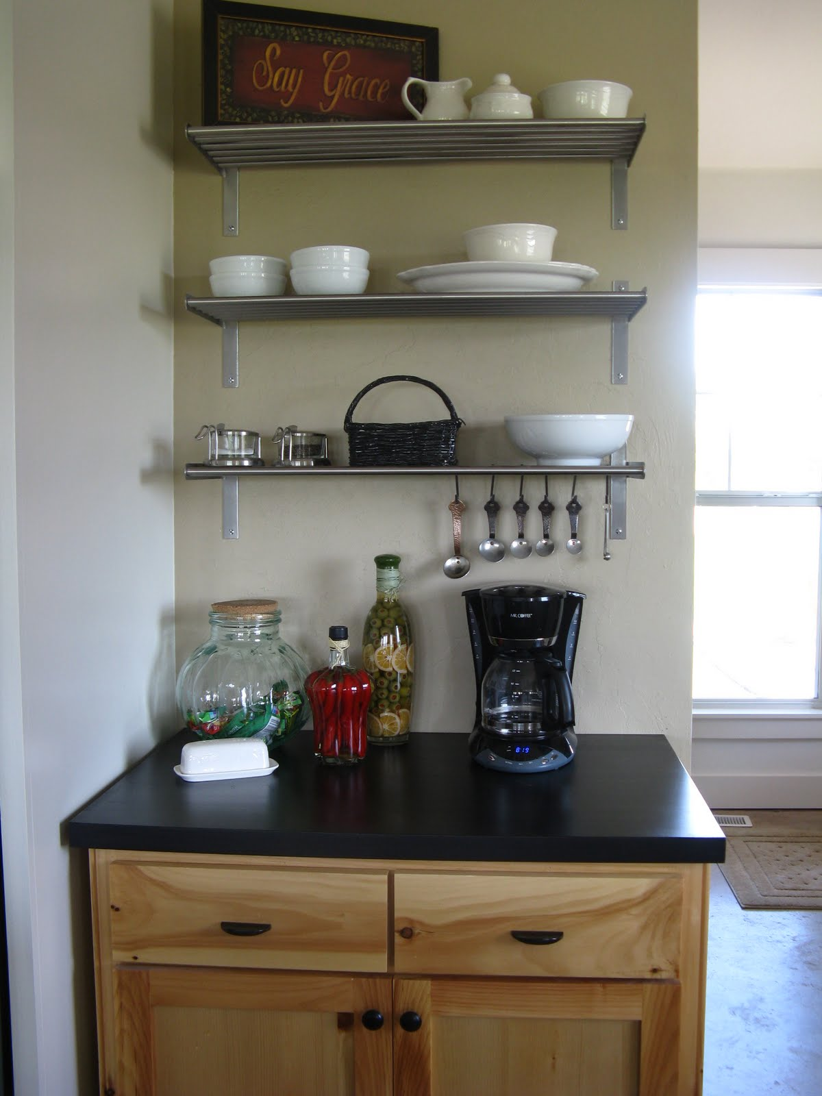 IKEA Kitchen Shelves and Storage