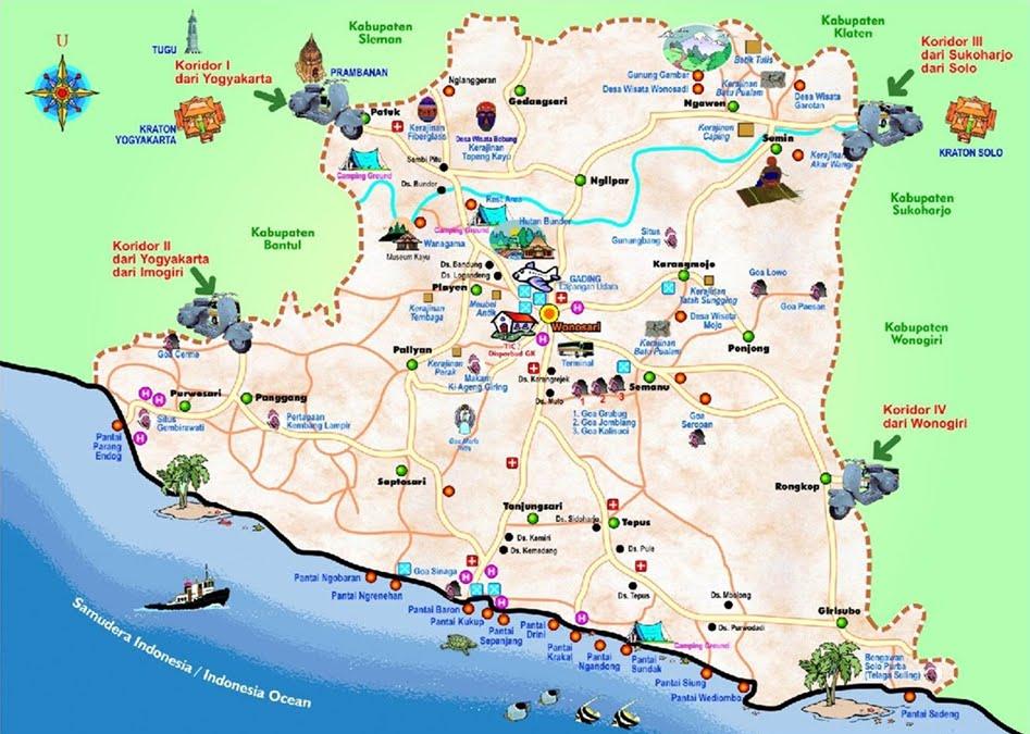 Yogyakarta Tourism Map Pdf